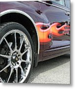 Pt With Flames Metal Print