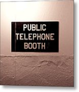 Public Phone Booth Metal Print