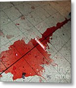 Puddle Of Red Wine On The Floor Metal Print