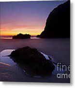 Puddles And Stones Metal Print