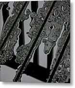 Puddles On The Deck Metal Print