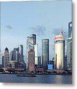 Pudong Skyline Metal Print