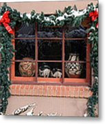 Pueblo Pottery Winter Window Metal Print