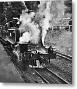 Puffing Billy Black And White Metal Print
