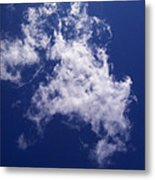Pulled Cotton Clouds Metal Print
