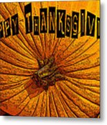 Pumpkin Holiday Metal Print