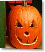 Pumpkin Man Metal Print