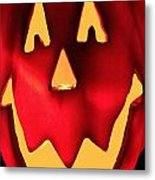 Pumpkin Smile Metal Print