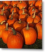 Pumpkin Strike Metal Print