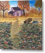 Pumpkins Ready For The Harvest Metal Print by Laurie Kidd