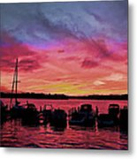 Punta Gorda Sunset Metal Print by Sandy Poore