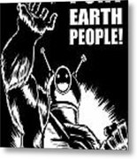 Puny Earth People Metal Print