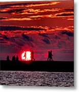 Pure Michigan Sunset Metal Print