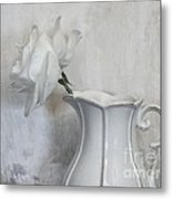 Pure White Metal Print