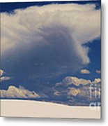 Pure White Sand And Mountain Storms Metal Print