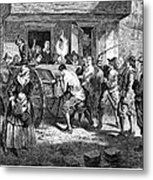 Puritans And Quakers, 1677 Metal Print