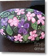 Purple And Pink Flowers Metal Print