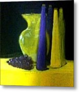 Purple And Yellow Still Life Metal Print