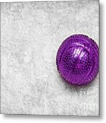 Purple Ball Cat Toy Metal Print