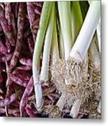 Purple Beans And Green Onions Metal Print
