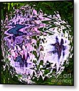 Purple Daisies World - Abstract Art Metal Print