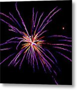 Purple Explosion Metal Print