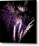 Purple Firework Metal Print