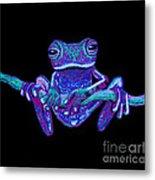 Purple Ghost Frog Metal Print