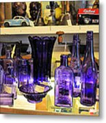 Purple Glass Collection Metal Print