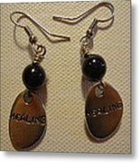 Purple Glitter Healing Earrings Metal Print