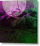 Purple Moon Metal Print by Ann Powell