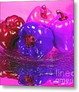 Purple Peppers Metal Print