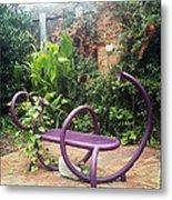 Purple Seat Metal Print