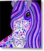 Purple Spotted Horse Metal Print