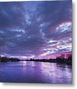 Purple Sunset Metal Print