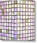 Purple Tiles Metal Print