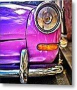 Purple VW Bug Metal Print