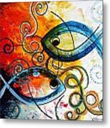 Purposeful Ichthus By Two Metal Print