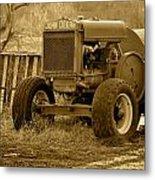 Put Out But Not Abandoned In Sepia Metal Print