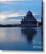 Putrajaya Mosque At Evening Metal Print