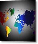 Puzzle World Treasure Map Metal Print