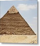 Pyramid Of Khafre Chephren, Giza, Al Metal Print