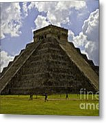 Pyramid Of Kukulkan Two Metal Print