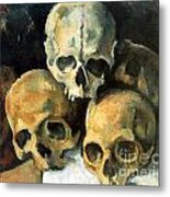 Pyramid Of Skulls Metal Print