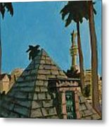 Pyramid Tomb In Cemetary Metal Print