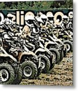 Quad Racers Metal Print