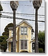 Quaint House Architecture - Benicia California - 5d18592 Metal Print by Wingsdomain Art and Photography