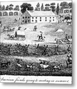 Quaker Meeting, 1811 Metal Print by Granger
