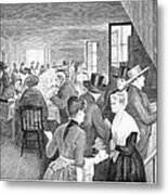 Quaker Meeting, 1888 Metal Print