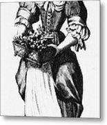 Quaker Woman, 17th Century Metal Print